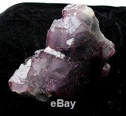 7.06lb Natural Purple. Spécimen Minéral En Grappe De Cristal De Quartz Vert Fluorite
