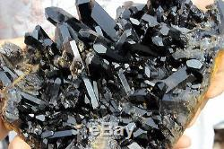 7.07lb Aa ++ Natural Magnifique Spécimen De Cristal De Quartz Noir