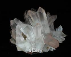 7.73lb Aaa +++ Blanc Naturel Clair Quartz Spécimen De Groupe De Cristal