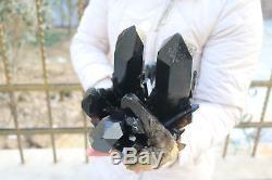 7020g Spéciale Spécimen Tibétain En Cristal De Quartz Noir Naturel # 603