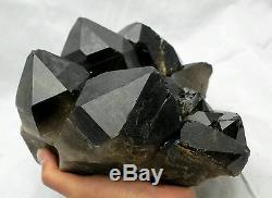 7076g Rare Beautiful Black Quartz Crystal Cluster Tibetan Specimen
