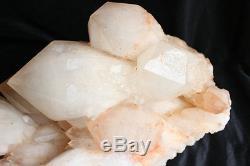 71.1lb Large Natural Raw White Clear Quartz Crystal Cluster Points De Tibétain