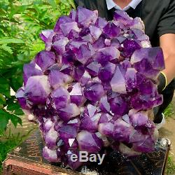 75.9lb Naturel Amethyst De Cristal De Quartz Groupe Géode De Guérison