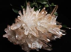 7765g Aaa Clair Naturel Beau Rose Quartz Cristal Cluster Spécimen