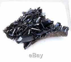 79.86lb Naturel Rare Beau Spécimen Minéral En Grappe De Quartz Noir Quartz