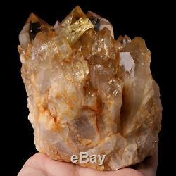 795g Naturel Smoky Citrine Quartz Cristal Cluster Guérison Du Congo