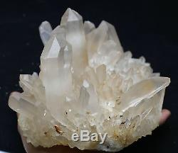 7lb Nouveau Trouver Rare Naturel Blanc Clear Quartz Crystal Cluster Specimen