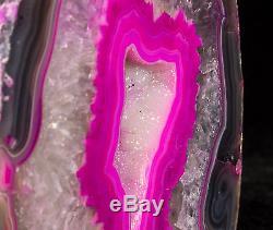 7lbs Agate Géode Cristal Quartz Poli Druzy Specimen Cluster Brésil