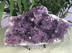 8 Grand Amethyst Geode Cristal Quartz Druze Specimen Amethyst Chakra Cluster