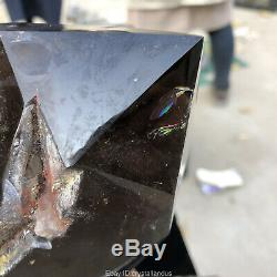80lb Obélisque De Quartz Noir Naturel Grappe De Cristal Spécimen Guérison Tt548-a
