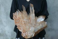 8380g (18.4lb) Naturel Beau Clair De Cristal De Quartz Cluster Tibétain Spécimen