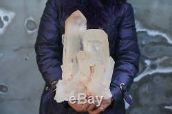 8600g (18.9lb) De Spécimens Magnifiques Clusters De Cristaux De Quartz De Clarear Naturels Tibet H101