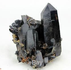 9.31ib Aaa +++ Magnifique Spécimen De Cristal De Quartz Noir Rare