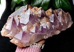 9.724lb Naturel Améthyste Squelettique Quartz Crystal Cluster Spécimen De Guérison
