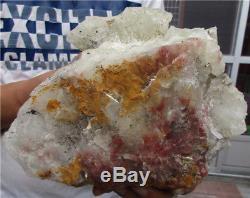 9.7lb Aa +++ Naturel Citrine Quartz Cluster Cristal Baguette Point Spécimen 156.6oz