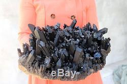 9100g Naturel Beau Spécimen Tibétain En Cristal De Quartz Noir # 043