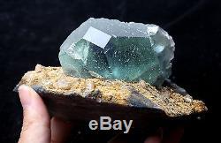 920g Natural Green. Blue Fluorite Quartz Crystal Cluster Mineral Specimen