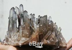 940g Rare Naturel Belle Green Ghost Cristal Cluster Échantillon Original