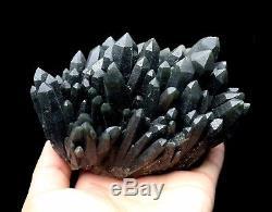 993,6g De Spécimens Minéraux De La Grappe De Cristal De Quartz Vert De Grande Découverte / Chine