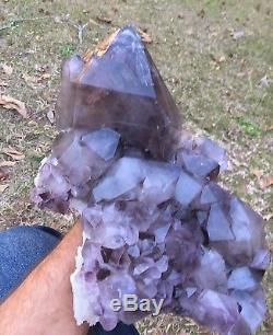 A + Grand Collier De Cristal De Quartz Améthyste Fumé Diamond Hill Caroline Du Sud