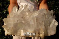 Aa 11310g Naturel Tibétain Clear Quartz Crystal Cluster Point Spécimen