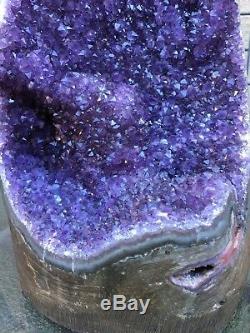 Agate De Cristal De Quartz Amode Améthyste Pourpre Violette
