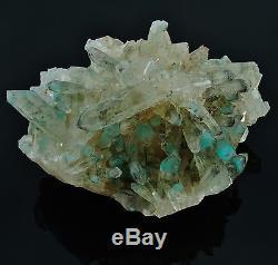 Ajoite Dans Quartz Phantom Crystal Cluster 389 Grammes 4.20 Messina Mine, S. Afrique
