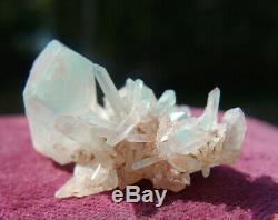 Ajoite Dans Une Grappe De Quartz, Mine De Cuivre De Messine, Cristal
