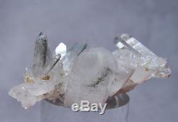 Ajoite En Quartz 1.12 Pouces 232 Carats Natural Crystal Cluster Afrique Du Sud