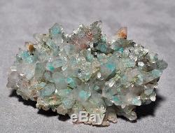 Ajoite In Quartz 3.97 Pouces. Flacon De Cristal Naturel 57 Lb Namibie