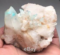 ++ Ajoite Rare Dans La Mine De Quartz Cluster Mine De Messina, Province Du Limpopo, Afrique Du Sud ++