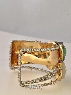 Alexis Bittar Angel Druzy Stone - Bracelet Manchette En Grappes 345 $ Crystals Thorns Nouveau