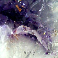 Améthyste Cathédrale Geode Cave Groupe De Cristal De Quartz Naturel 3.75kg 22cm