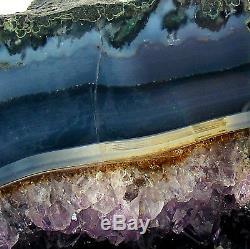 Améthyste Cathédrale Quartz Cristal Cluster Naturel Grande Grotte Geode 6.85kg 23cm
