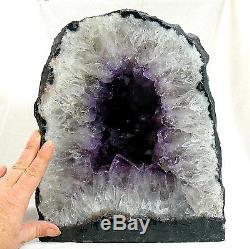 Améthyste Cathédrale Quartz Cristal Cluster Naturel Grosse Géode Grotte 14.3kg 28cm