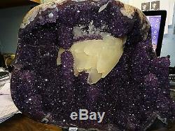 Améthyste Cristal Cluster Geode Uruguay Cathédrale Pleine Stalactites Stand Rare