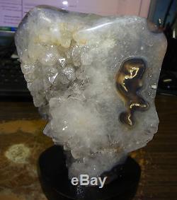 Améthyste / Cristal Quartz Cluster Cathédrale Géode Uruguay Stalactite Base