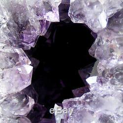 Améthyste Mini Cathédrale Geode Cave Groupe De Cristal De Quartz Naturel 1118g 17cm
