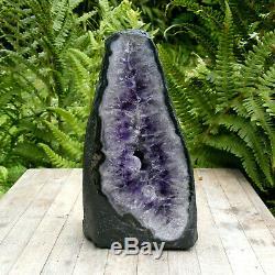 Améthyste Mini Cathédrale Geode Cave Groupe De Cristal De Quartz Naturel 1294g 15cm