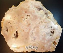 Améthyste Rose Cristal Poli Slab XL Roche Cluster Cristaux 8lb 10 12 Oz (amp3)