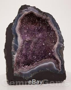 B0775 10.67 16.12lbs Cathédrale Améthyste Géode Quartz Cristaux Agate Cluster