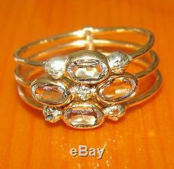 Bague En Crustal Et Diamant Classes Dorees En Or Jaune 14k Avec Une Taille O
