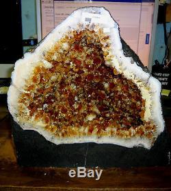 Belle 11 Dans La Cathédrale Du Brésil Citrine Cristal Cluster Geode Terrific Prix