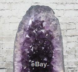 Belle Aaa + Améthyste Cristal Quartz Cluster Géode Cathédrale 32,2 Lb