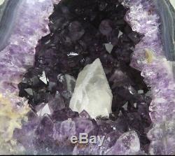 Belle Aaa + Améthyste Cristal Quartz Cluster Géode Cathédrale 36.9 Lb