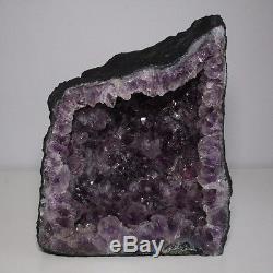 Belle Cathédrale Améthyste Cristal Quartz Cluster Geode 17 Lb