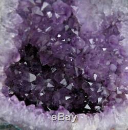 Belle Cathedrale De Geode En Amethyste De Cristal De Quartz Pourpre 11,45 Lb