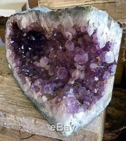 Big Amethyst Geode Crystal Cluster Agate Polie Cathédrale Jante