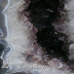 Cathédrale Améthyste Grande Grotte De Cristal De Quartz Naturel Geode 7kg 33cm De Hauteur