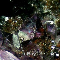Cathédrale D'améthyste Grand Groupe De Cristaux De Quartz Naturel De La Grotte Geode 4.95kg 24cm